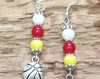 HEAT Basketball Inspired Earrings