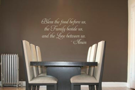 Bless The Food Before Us Kitchen Wall Decal Kitchen Wall
