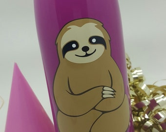 17 oz. Stainless Steel Insulated Water Bottle - 5 Color Zen Sloth Design