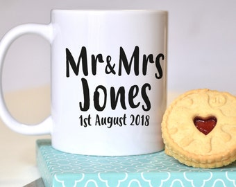 Mr and Mrs Personalised Wedding Mug