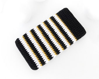 Golden Zebra Pixel phone case, Xperia XZ cover, Black White iPhone 7 sock, LG G5 sleeve, Samsung S7 cozy, OnePlus X pouch, BlackBerry cover