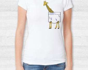 Women's Giraffe Pocket T shirt, V Neck, tank top, sweatshirt, S, M, L, XL