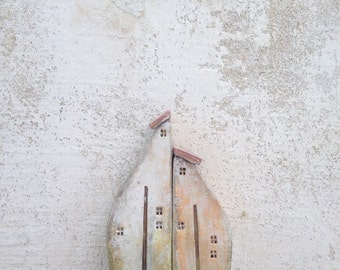 Ceramic houses, Christmas gift, clayhouse, handmade ceramic houses, housewarming gift, home decor