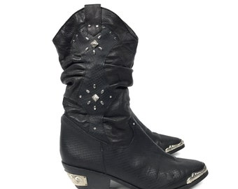 Womens Size 6 - Leather Cowboy Boots - Wild Pair Ankle Boot