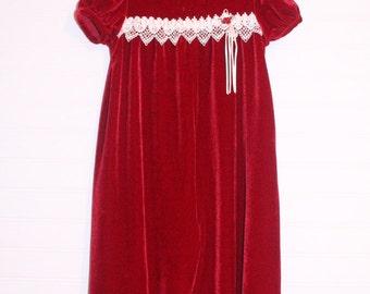 Vintage baby romper. Red Velvet, Youngland romper for 24 Mo