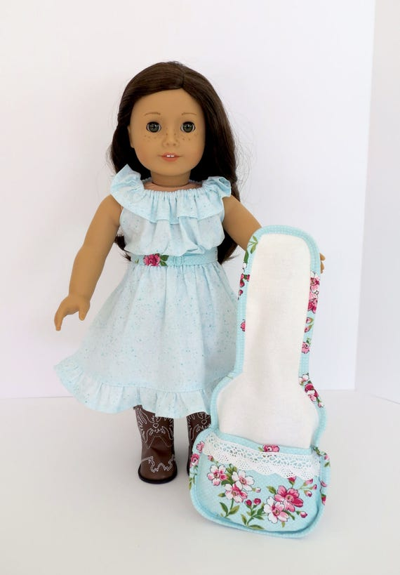 Gig Bag GUITAR CASE Handcrafted for 18-inch dolls such as American Girl®  Inspired by and designed to fit Tenney Grant's® guitar