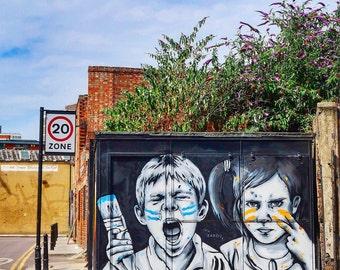 Shoreditch Graffiti (Made to Order Print)