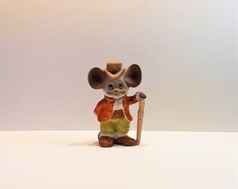 Irish Leprechaun St. Patrick Mouse Figurine, Ceramic Collectible Mouse
