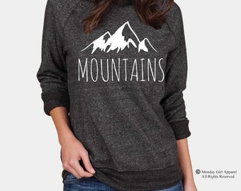 MOUNTAINS Champ Sweatshirt Alternative Apparel long sleeve shirt