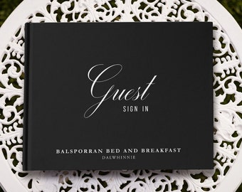 Visitors Book, Bed and Breakfast Guest Book, Hotel Guest Book, Guest Sign In Book, airbnb, Be Our Guest, Welcome to Our Home Guest Book