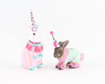 Bunny Cupcake & Cake Topper Set