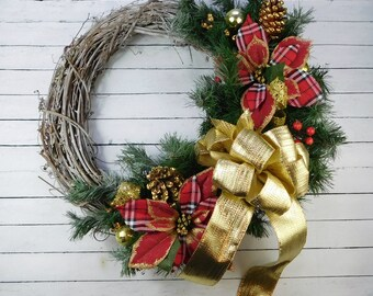 Wreath Sale, Wreath For Winter, Winter Wreath, Front Door Wreath, Winter Door Wreath, Fireplace Wreath, Mantle Wreath, Wintertime Decor