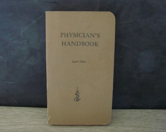 Vintage Physician's Handbook 1954 Eighth Edition Lange Medical Publications Rare Doctor Science Textbook Reference Collectible