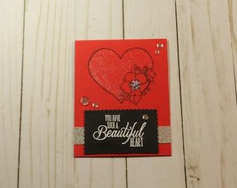 Greeting Card / Handmade / Blank Inside Greeting Card / Stamped Greeting Card / Greeting Card
