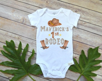 Cowboy Birthday, First Rodeo, Country Baby, Cowboy Party, Rodeo shirt, Baby Shower Gift, Country Boy Birthday, Country Baby Gift,Rodeo baby