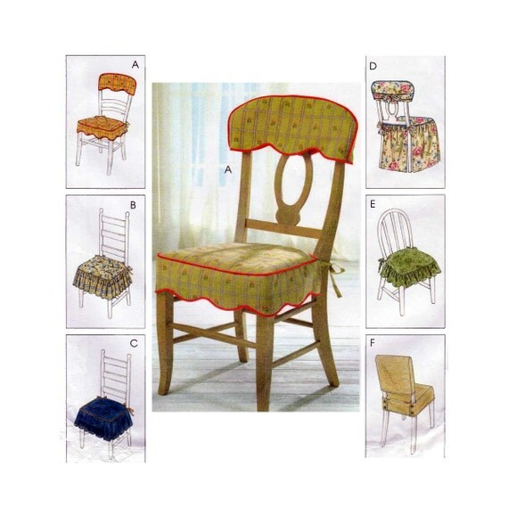 Home Decorating Sewing Pattern Chair Cover Essentials Seat