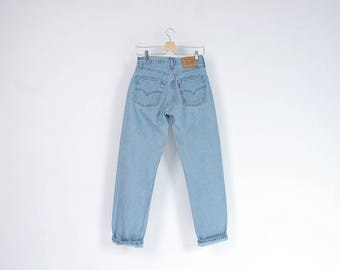 90s Levi's 517 ultra light wash denim street style pants / Size W29 L32