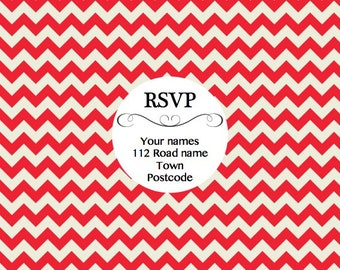 35 RSVP stickers. Perfect for Wedding & Parties!