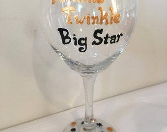 Twinkle Twinkle Big Star Wine Glass - Parks and Rec - Tom Haverford