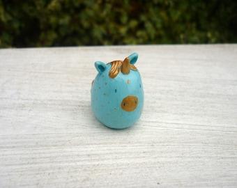 Unicorn Animal Bean ∙ Cute animal ornament ∙ Handmade animal totem ∙ Ready to ship