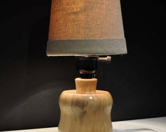 Wood Lamp turned from Maple - Glossy Finish