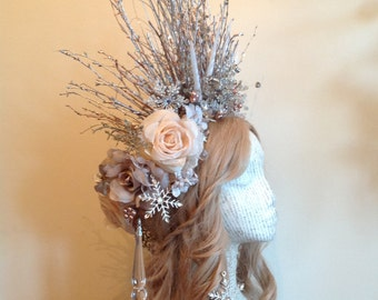 Winter Roses Frost Queen Snowflake Forest Crown