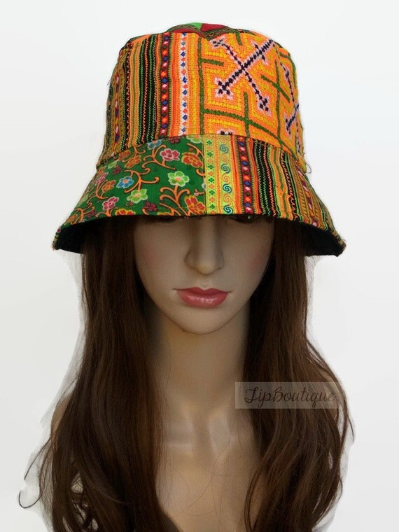 Hippie bucket hat hobo festival hat travel holiday hat fishing for Fish hippie hats