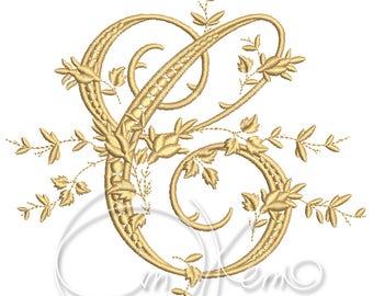 MACHINE EMBROIDERY DESIGN - Victorian Letter C embroidery, Victorian alphabet embroidery, Antique alphabet embroidery, Monogram embroidery