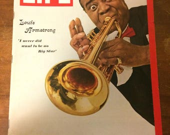 LIFE magazine. Louis Armstrong cover. 1966.