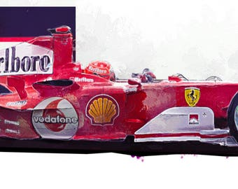 Michael Schumacher  F1 Print - Limited Edition - Ferrari 2004