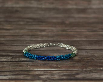 King chain bracelet (Byzantine), Chainmaille