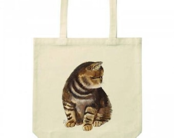 Cat Totebag / Exotic Shorthair / Cotton Bag / Canvas Totebag / Shopping Bag / Beach Bag / Cat Illustration