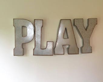 Metal Letters For Wall play letters | etsy