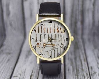 Surgeon Tools Watch | Doctor | Medical Instruments | Ladies Watch | Men's Watch | Unisex | Birthday | Wedding | Gift Ideas | Accessories