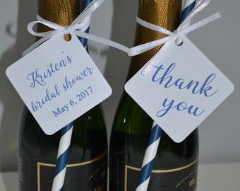 Thank You Tags, Wedding, Bridal Shower, Custom 50