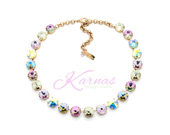 READY TO RUNWAY 12mm Necklace Made With Swarovski Crystal *Pick Your Finish *Karnas Design Studio *Free Freight*