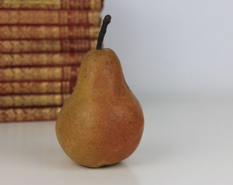 Antique Fruit Pear Clay/Ceramic Hand Painted
