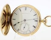 18K Yellow Gold Waltham Keywind Pocket Watch