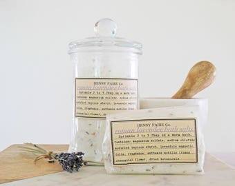 roman lavender bath salts | french lavender bath salt with roman chamomile | 2 to 3 baths in compostable bag