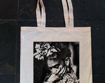 Frida Kahlo - Screen printed cotton tote bag