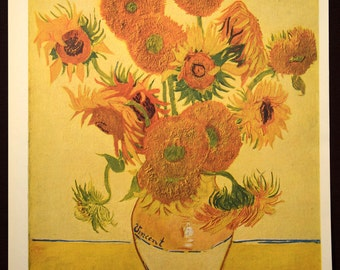 Sunflower Wall Art Sunflower Wall Decor Print Van Gogh Sunflowers