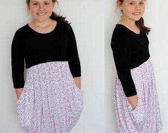 Darcy dress pattern, girls dress pattern, girls pattern, tween dress pattern, girls sewing pattern, girls dress pdf, girls pdf pattern