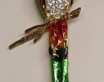 Colorful Parrot Brooch