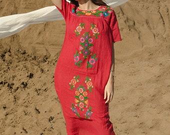 Mexican Beach Dress Red