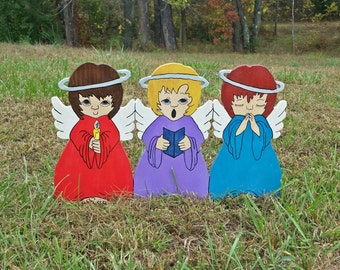 Little Angel Trio | Christmas Yard Art