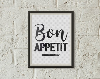 "Postcard ""bon appetit""- Enjoy your meal - Decoration - House-warming party - french words - french postcard - Quote"