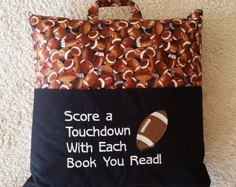 Reading Pillow - Score a Touchdown With Each Book You Read