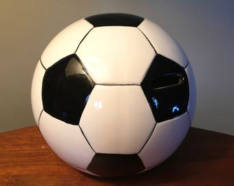 Vintage soccer ball bank for coins