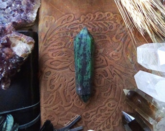 Ruby Zoisite Crystal Point
