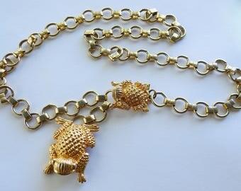 Judith Leiber Frog Chain Belt